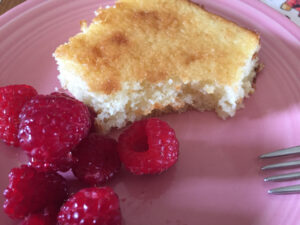 Bev Shaffer - Funky Lemon Cake - Cake Plated with Berries