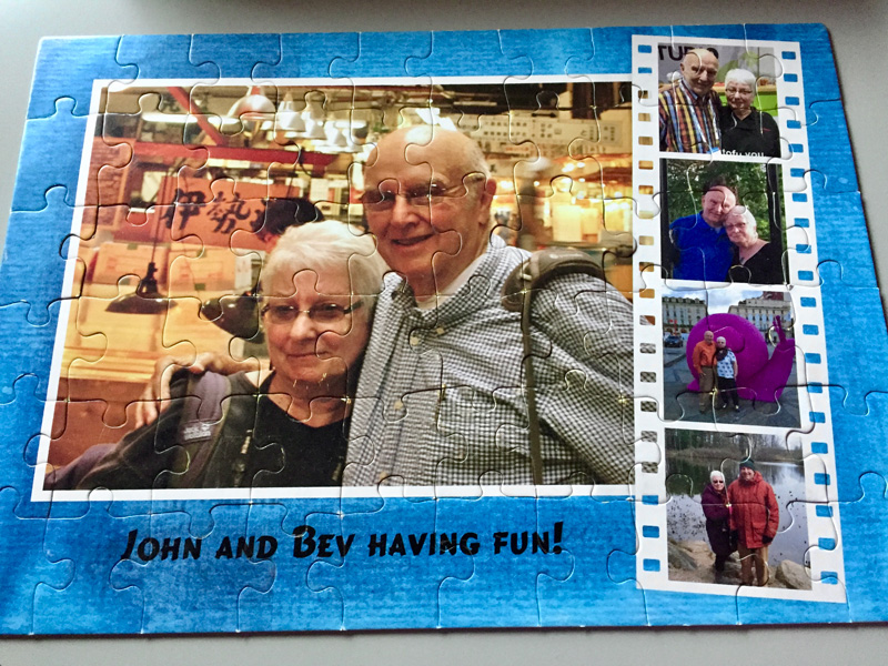Bev Shaffer - Life Measured by Puzzle Pieces - John and Bev Having Fun