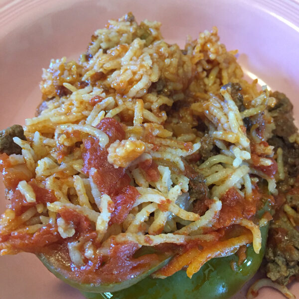 Bev Shaffer - Grandma Louie's Stuffed Peppers - Plated