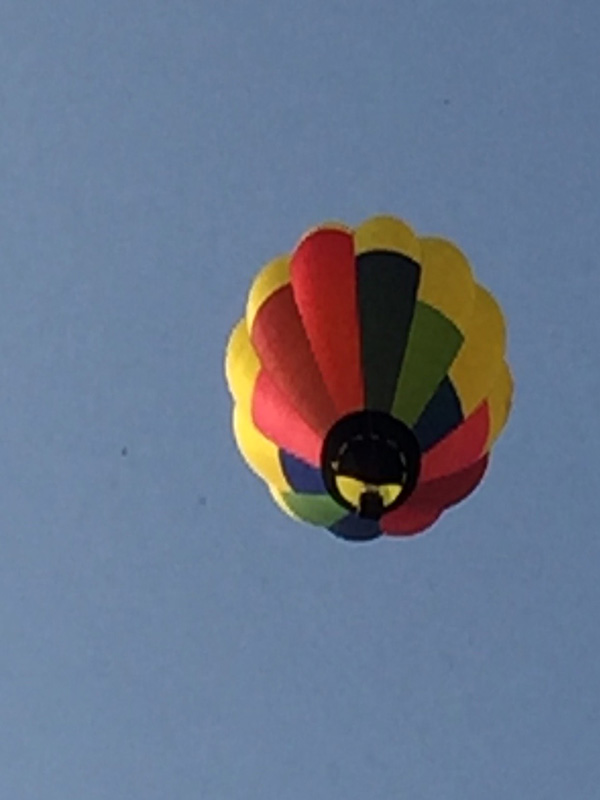 Bev Shaffer - When It's Been A Stressful Week - Multi-Colored Hot Air Balloon